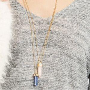BaubleBar Jewelry - EUC Organic Quartz Pendant - Clear 💟